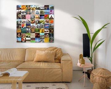 Typisch Nederland - collage van beelden van het land en historie van Roger VDB
