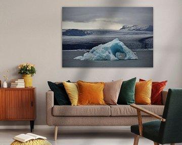 IJsberg in IJslands gletsjermeer van Elisa in Iceland
