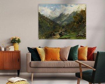Landschaft von Carlos de Haes-Bergbos, Antike Landschaft