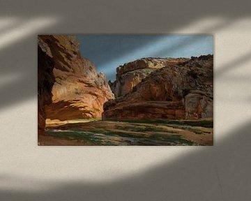 Schluchtlandschaft Carlos de Haes-Aragon, Flusslandschaft, Antike Landschaft