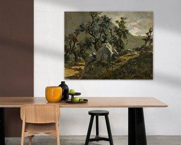 Carlos de Haes-Bergweg Bäume Landschaft, Antike Landschaft