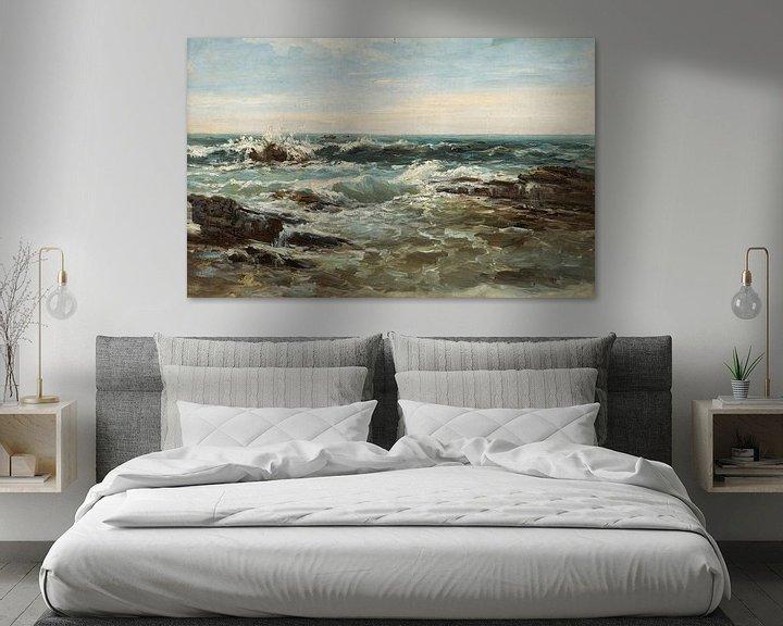 Beispiel: Carlos de Haes-Choppy Ocean Golf Landschaft, Antike Landschaft