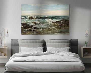 Carlos de Haes-Choppy Ocean Golf Landschaft, Antike Landschaft