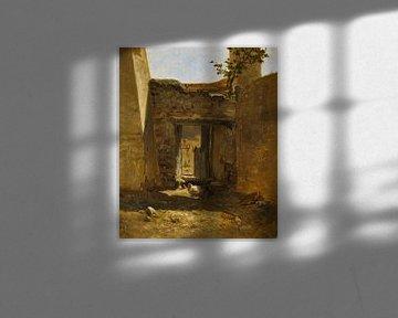 Carlos de Haes - Ein Korral, antike Landschaft_1