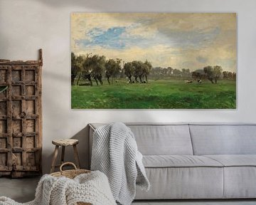 Carlos de Haes-Grüne Graslandschaft, Antike Landschaft