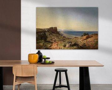 Carlos de Haes Küstengebiet, Hügel, Strand, antike Landschaft