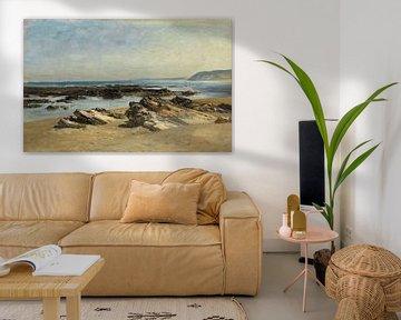 Carlos de Haes-Rustige zeezicht, Reef View, Antiek landschap