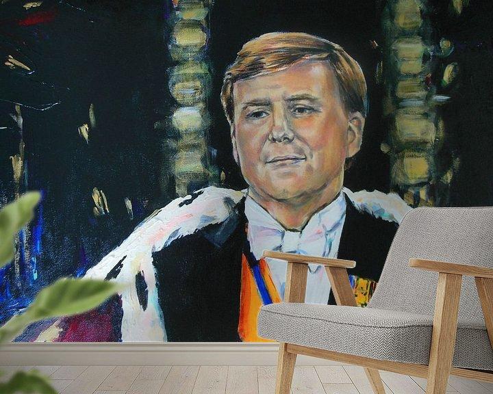 Beispiel fototapete: Koning Willem Alexander von Lucia Hoogervorst