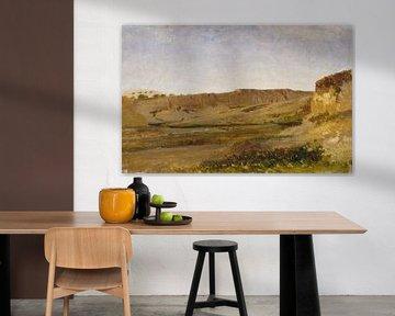 Carlos de Haes-Stroom landschap in de canyon, Antiek landschap