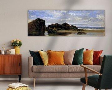 Riff am Carlos de Haes-Strand, Küstenlandschaft, Antike Landschaft