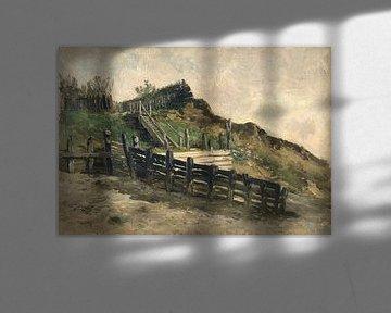 Carlos de Haes-Zeehouten Zaunlandschaft, Antike Landschaft