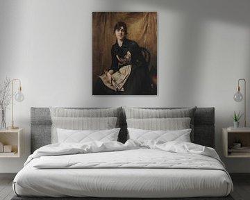 Anna Bilinska-Bohdanowicz~Sef portrait avec une palette