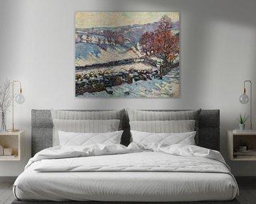 Armand Guillaumin~Schneeweiße Landschaft in Crozant