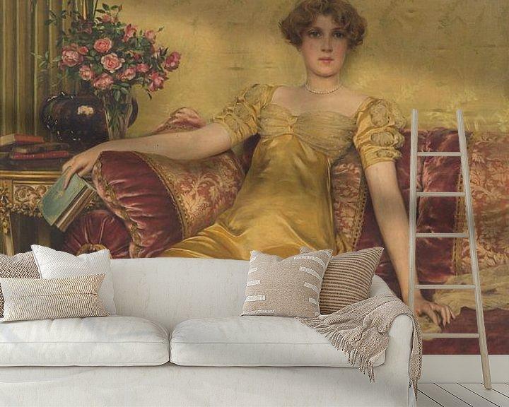 Sfeerimpressie behang: Charles Joseph Frederic Soulacroix~Een Reverie