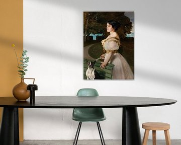 Charles Giron~Porträt von Helena Paderewska