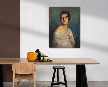 Cyprien Eugène Boulet~Porträt von Julita Alves von Lima im Alter von 20 Jahren