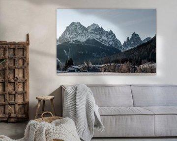 Stimmungsvolle italienische Landschaft mit Dolomiten von Hidde Hageman