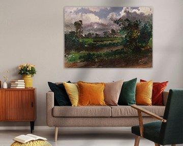Francis Denby~Ein Blick über den Artist Garden seines Hauses in der Nähe von Exmouth, Devonshire