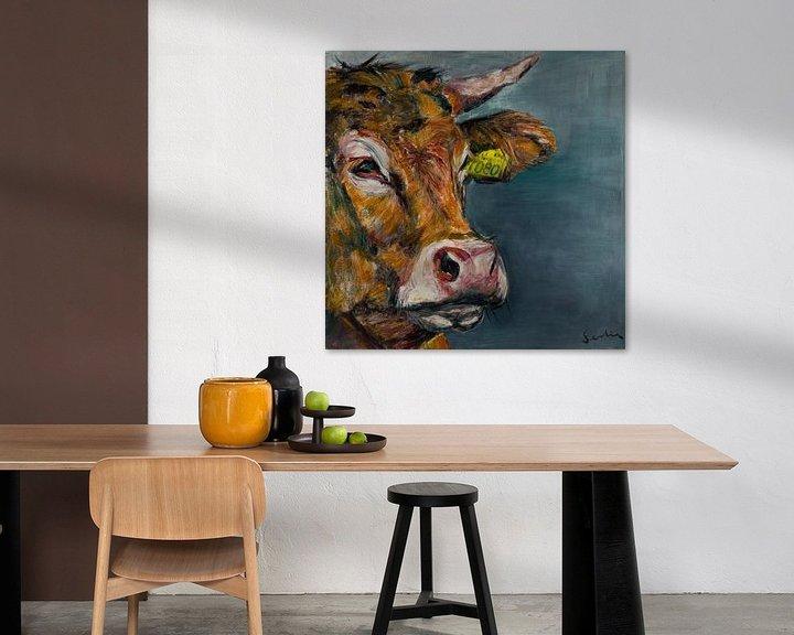 Impression: portrait de vache V sur Liesbeth Serlie