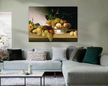 James Peale~Stillleben mit Früchten