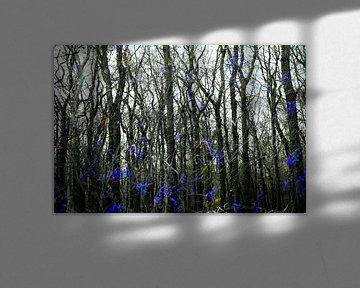 abstract boslandschap van Ed Klungers