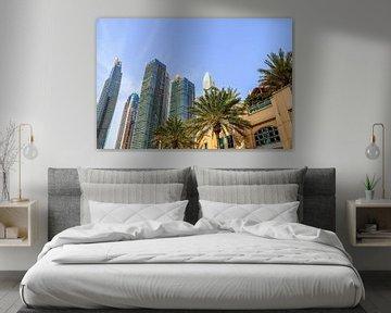 Hochhäuser mit Glasfassaden in Dubai von MPfoto71