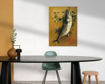 John La Farge~Fisch(Dekorative Tafel)