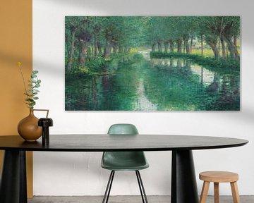 John Leslie Breck~De rivier Epte, Giverny