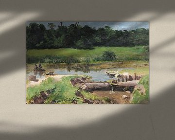José Ferraz de Almeida Júnior~Rivier landschap [Landschap Rivier]