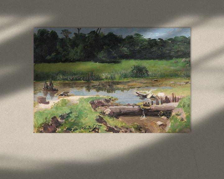 Sfeerimpressie: José Ferraz de Almeida Júnior~Rivier landschap [Landschap Rivier]