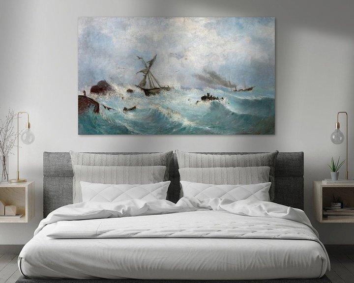 Impression: Karol Rafalowicz~Storm dans la mer Noire