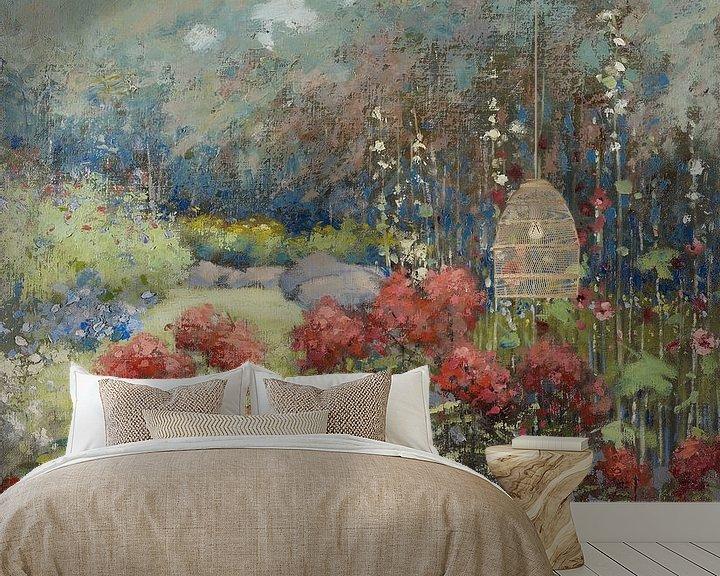 Beispiel fototapete: Mary Hiester Reid~Ein Garten im September