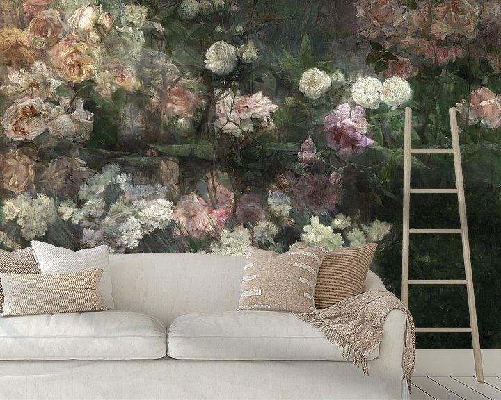 Beispiel fototapete: Maria Oakey Dewing~Garten im Mai