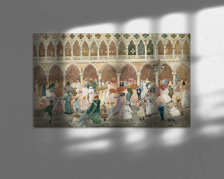 Beispiel: Maurice Prendergast~Sonnenlicht auf der Piazzetta