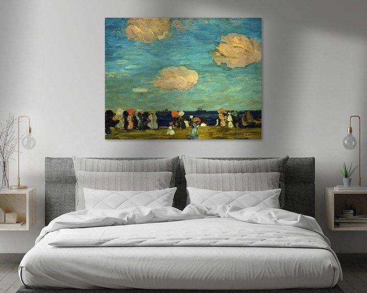 Beispiel: Maurice Prendergast~Meeresküste mit Figuren