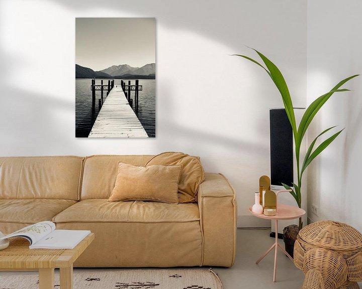 Impression: Repos à Te Anau - Nouvelle-Zélande (Noir - Blanc) sur Be More Outdoor