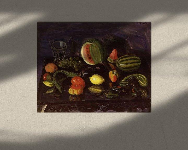 Beispiel: Narashige Koide~Stilleben mit Gemüse