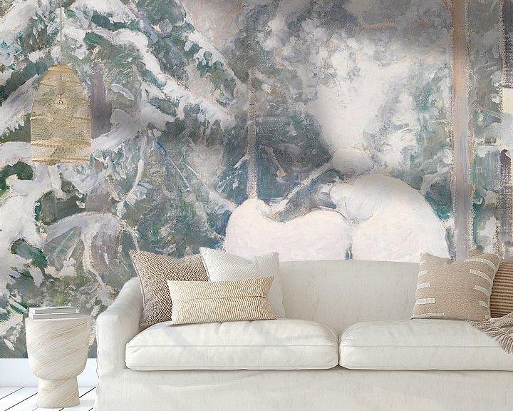 Beispiel fototapete: Pekka Halonen~Winterlandschaft