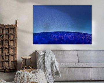 Abstrakt blau von Peter Hermus
