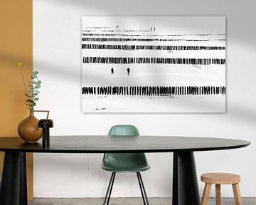 Salzland schwarz/weiss von Aspectus | Design en Realisatie