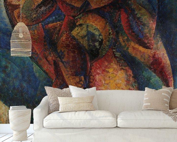 Beispiel fototapete: Umberto Boccioni Menschlicher Körper (Dynamik)