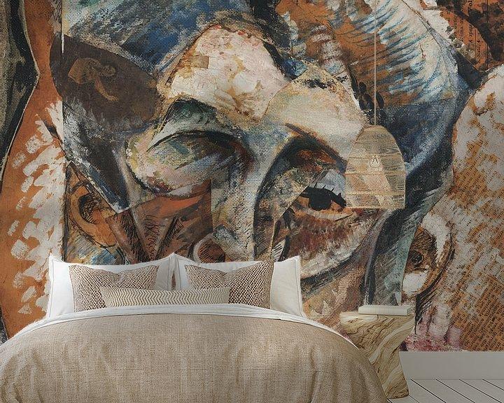Beispiel fototapete: Umberto Boccioni-Dynamik eines Frauenkopfes