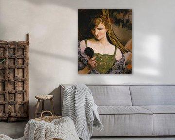 Walter Kuhn-Mädchen mit Spiegel