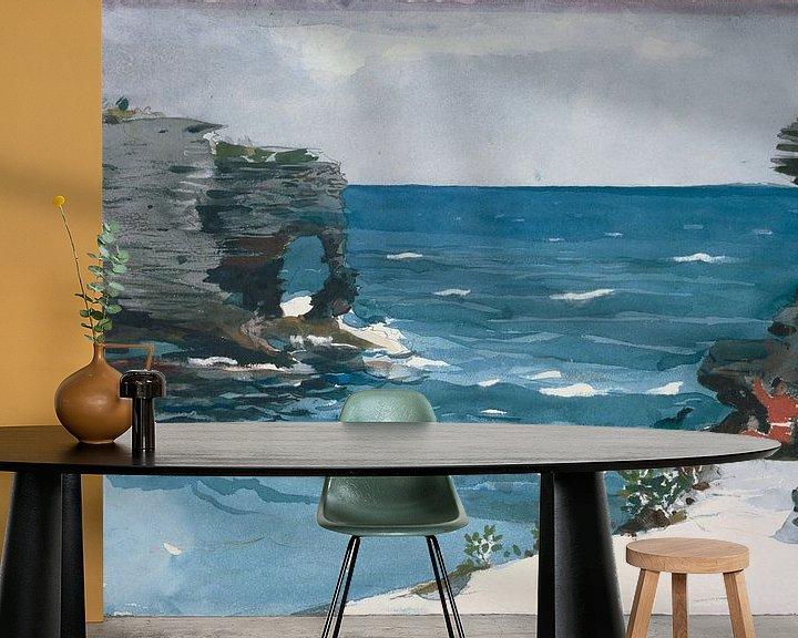 Beispiel fototapete: Winslow Homer-Rocky Shore, Bermuda