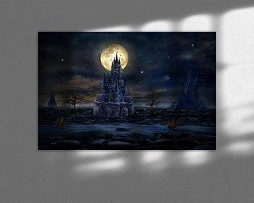 Voll Mond auf dem Schloss von Stefan teddynash