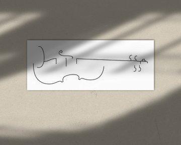 Violine Silhouette von Drawn by Johan
