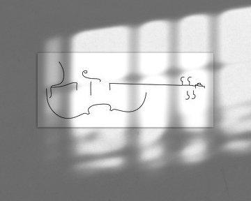 Viola-Silhouette von Drawn by Johan