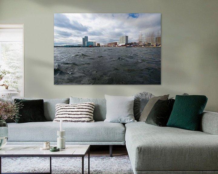 Sfeerimpressie: Almere Skyline van Brian Morgan