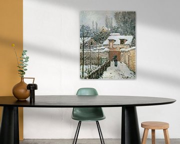Alfred Sisley Schnee in Louveciennes
