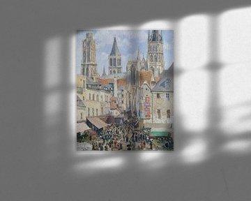 Camille Pissarro~Rue de l'user;-picerie, Rouen (Effect van Zonlicht)